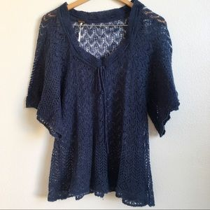 [Free People] short sleeve knitted sweater